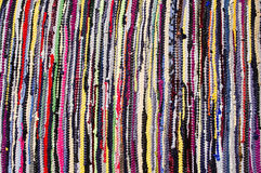 Carpet of colored rags Royalty Free Stock Photography