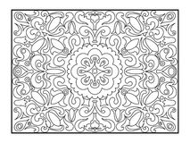 Carpet coloring book for adults vector Stock Photos