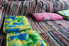 Carpet and cushion Stock Photography