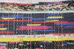 Carpet. The cutting and sewing is made with old clothes Royalty Free Stock Photo