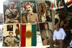 Carpet Dealer in Iraq. Carpet Dealer in Arbil City, Kurdistan Religion,Iraq Stock Image