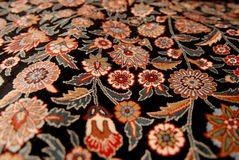 Carpet decorated with flowers Royalty Free Stock Photography