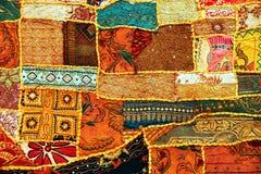 carpet den indiska patchworken Royaltyfri Foto