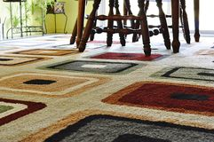 Carpet in dining room royalty free stock image