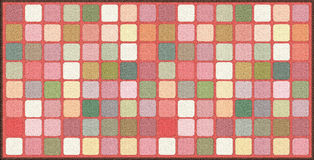 Background with squares. A floor cover that looks like a carpet with fine texture. This design can be used for catalogs, brochures, rugs and flooring, for Royalty Free Stock Images