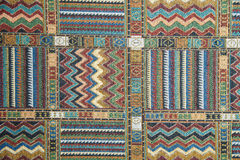 Carpet with ethnic ornaments Royalty Free Stock Images