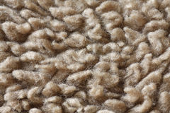 Carpet fibres close up. Beige carpet fibres close up, macro detail stock image