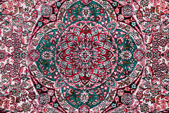 Carpet with floral ornament. Close-up royalty free stock images