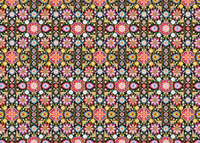 Carpet of flower on black Royalty Free Stock Photos