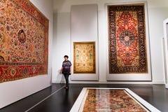 Carpet Hall of islamic art in Pergamon museum Royalty Free Stock Photos