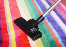 Carpet and hoover Royalty Free Stock Image