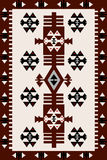 Carpet with Hungarian motifs Stock Photos
