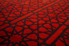 Carpet. The Carpet on the inside of the King Abdullah Mosque in Amman, Jordan Royalty Free Stock Image