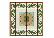 Carpet with ivy. Vector illustration of a carpet, EPS 10 file Royalty Free Stock Photos