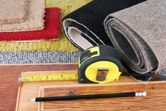 Carpet and laminate choice Stock Images