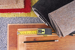 Carpet and laminate choice Royalty Free Stock Photo