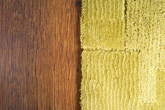 Carpet On Laminate Floor Royalty Free Stock Photos