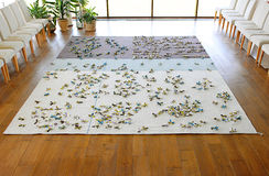 Carpet in the living room Royalty Free Stock Images
