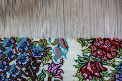 Carpet. Loom in Ameri Historical House in Kashan city in Iran royalty free stock images