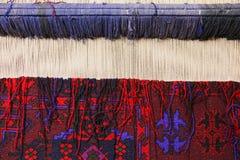 Carpet loom closeup Stock Image