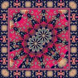 Carpet with mandalas. Vector. Ethnic motives. Oriental ornamental pattern Stock Images