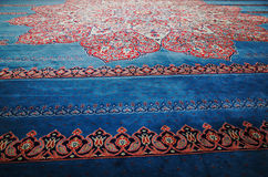 Carpet of New Mosque, Istanbul. New Mosque Yeni Cami - pronounced Yeni jami, Istanbul, TURKEY October, 2014 Stock Photos