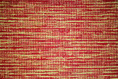 Carpet with original pattern, yellow and red backg Stock Images