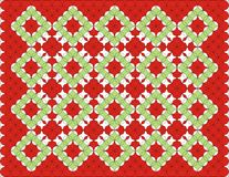 Carpet Pattern Background. Illustration in green and blue Stock Image
