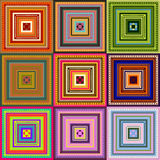 Carpet - pattern colored. Carpet in square with happy colors royalty free illustration