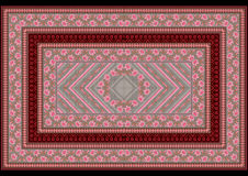 Carpet with pattern from pink roses Royalty Free Stock Image