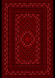 Carpet with a pattern red from roses Royalty Free Stock Photo