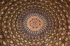 Carpet pattern yellow symmetry white, made UAE. Handmade pattern, made by UAE symmetry texture royalty free stock images