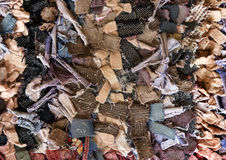 Carpet with rags Stock Images