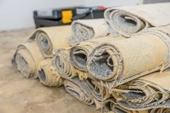 Carpet removal royalty free stock photography