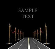 Carpet road concept Royalty Free Stock Photo