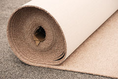 Carpet roll. Close-up on carpet roll for home improvement Stock Photography