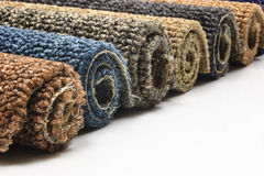 Carpet rolls Stock Images