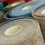 Carpet rolls in shop Stock Photo