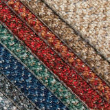 Carpet Samples. A book of carpet samples showing a selection of colours and textures Royalty Free Stock Photos