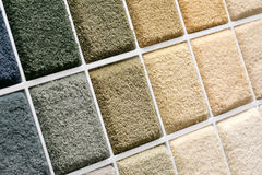 Carpet samples. Samples of color of a carpet covering Royalty Free Stock Photo