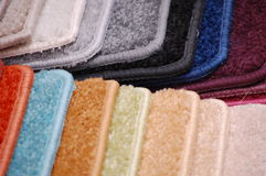 Carpet samples Royalty Free Stock Image