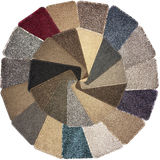 Carpet Samples. Showing a selection of colours and textures Stock Image