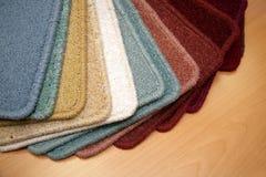 Carpet samples. Samples of carpet coverings in shop Royalty Free Stock Images