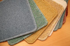 Carpet samples Royalty Free Stock Images
