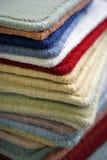 Carpet samples. Samples of carpet coverings in shop Royalty Free Stock Photos