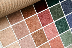 Carpet samples. Samples of color of a carpet covering Royalty Free Stock Photography