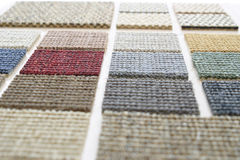 Carpet samples perspective Royalty Free Stock Images