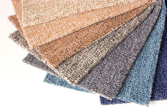 Carpet samples Stock Image
