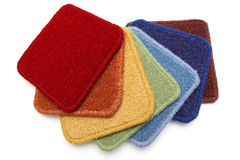 Carpet samples, rainbow Royalty Free Stock Photography