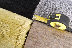 Carpet selection and tape Royalty Free Stock Photo